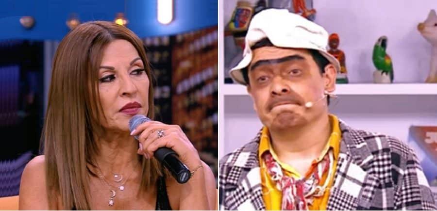 Amparo Grisales, actriz y jurado de 'Yo me llamo', y Suso, humorista.