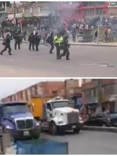 [Videos] Así avanzan bloqueos de transportadores en Bogotá y municipios vecinos