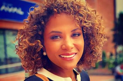 Mabel Lara, presentadora.