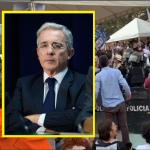 Abucheos a Uribe en Marinilla