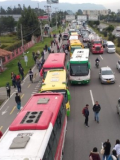 Terminal de transporte de Chía está cerrado por paro: 500 conductores cesaron actividades
