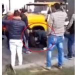 Vehículos atacados en protestas
