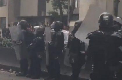 Protestas cerca a la Universidad Distrital.
