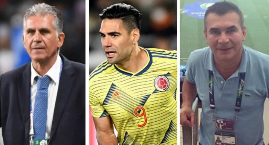 Carlos Queiroz, Radamel Falcao García y Diego Rueda