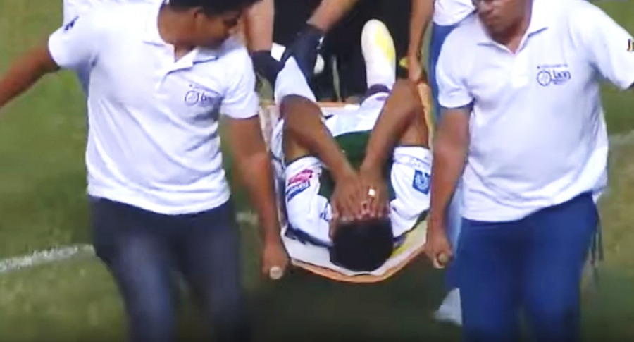 Jugador lesionado Mario Cuéllar