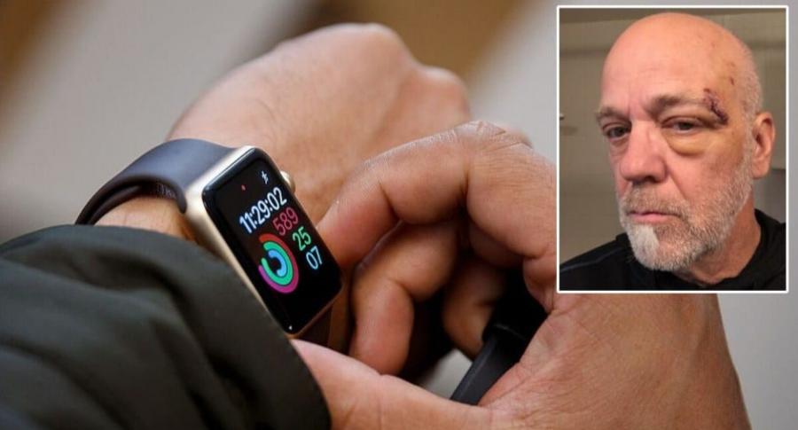 Hombre salvado por un Apple Watch.