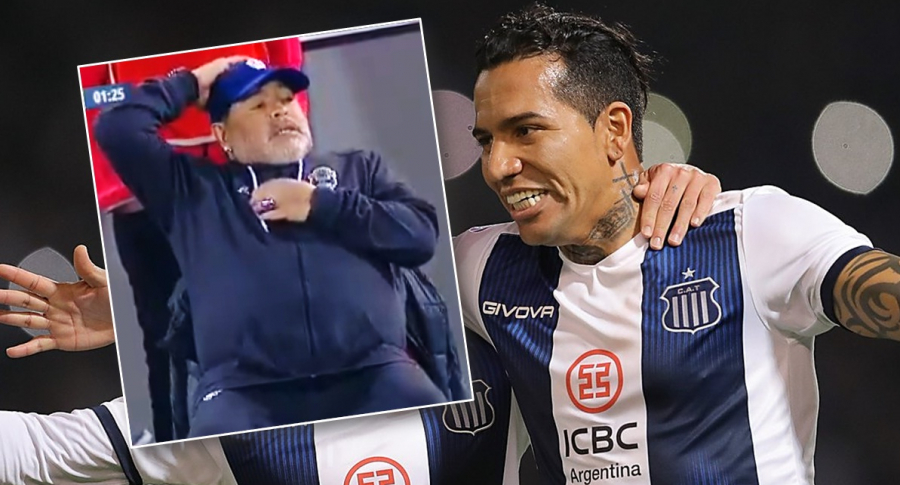 Diego Maradona y Dayro Moreno