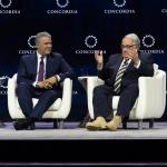 Iván Duque con Howard Buffett