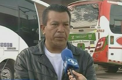 Élbert Martínez, promotor del paro