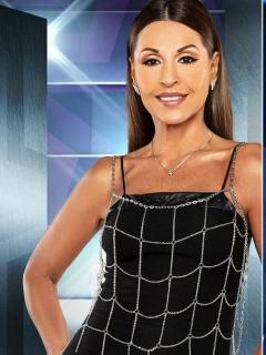Amparo Grisales, actriz, y Ernesto Calzadilla, presentador.