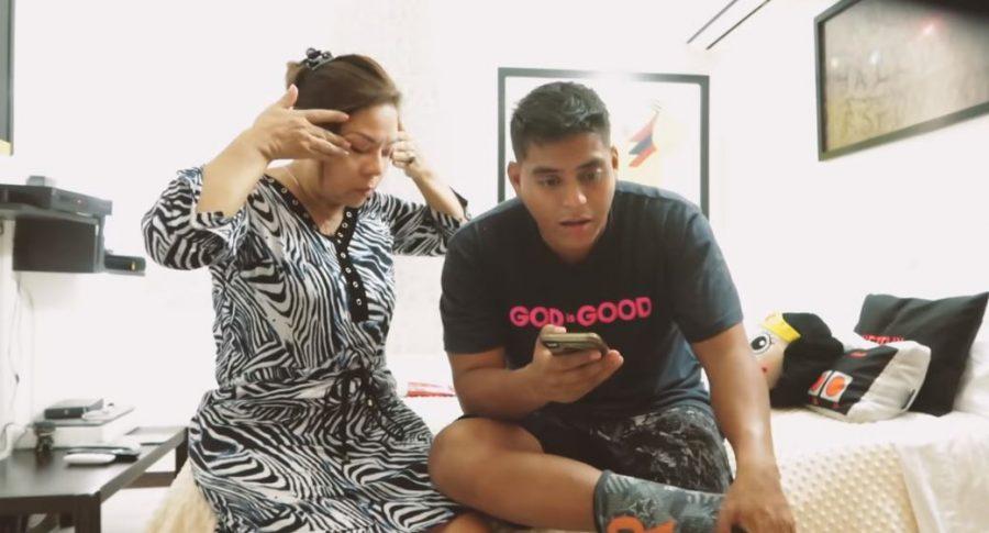 'El Mindo', influenciador, y su mamá.