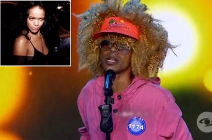 Imitador en 'Yo me llamo'/ Rihanna.