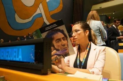 Daniela Rodriguez delegada chavista ante la ONU