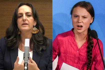 María Fernanda Cabal y Greta Thunberg