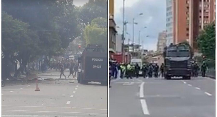 Disturbios en universidades Pedagógica y Distrital.