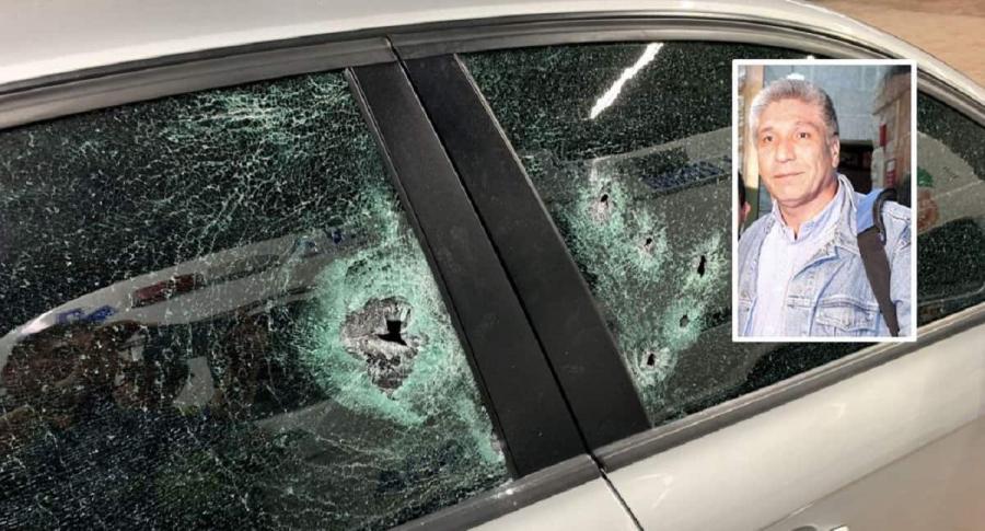 Vehículo de atentado a Sigifredo López