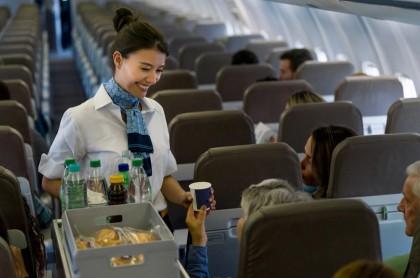 Bebidas en un avión