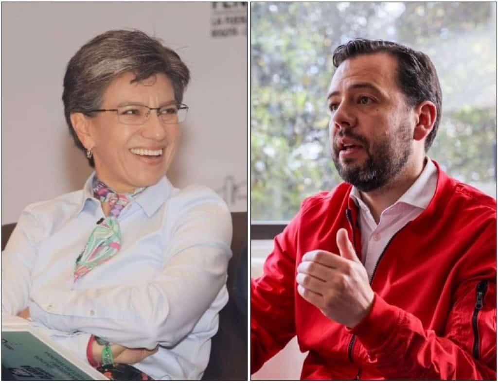 Claudia López y Carlos Fernando Galán.