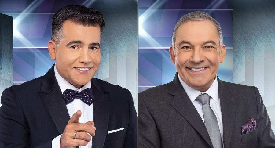 Carlos Calero, presentador, y César Escola, jurado de 'Yo me llamo'.