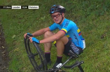 Ciclista colombiano Germán Gómez