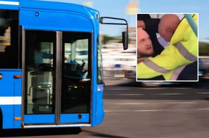 Pasajero ataca a conductor de bus.