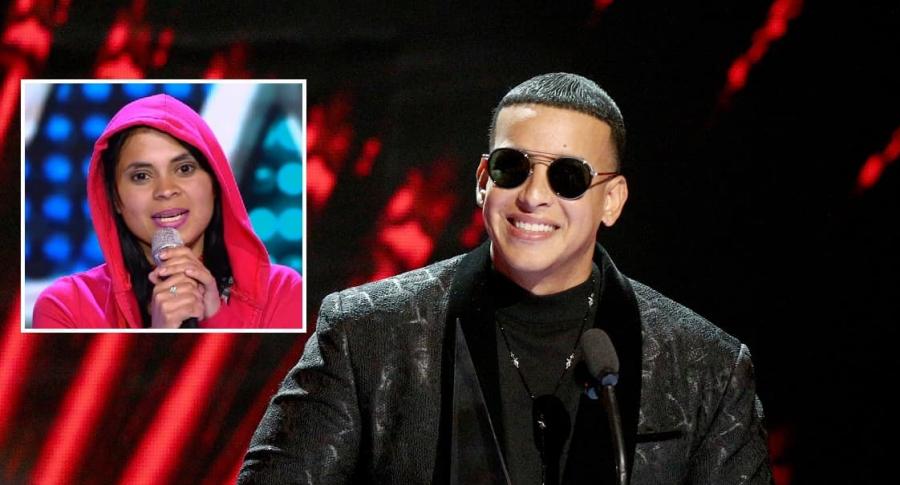 Daddy Yankee y su imitadora en 'Yo me llamo'