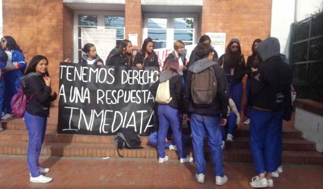 Protesta de estudiantes.