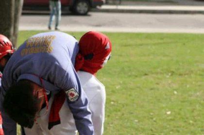 Vigilante desmayado en protestas.