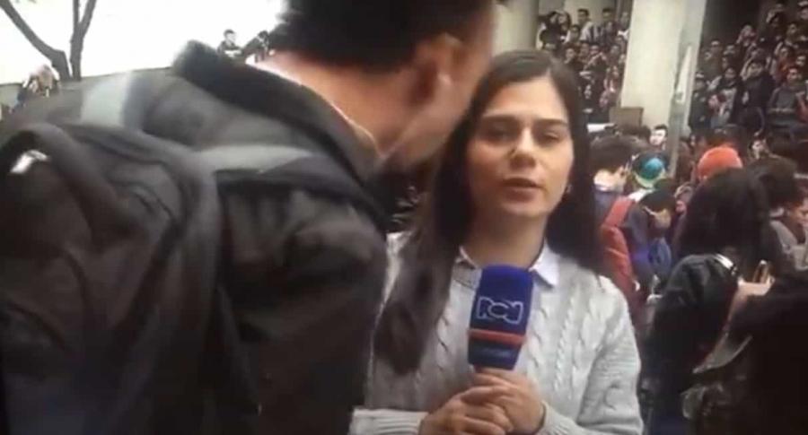 Periodista RCN agredida