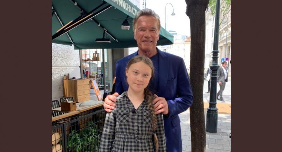 Greta Thunberg y Arnold Schwarzenegger
