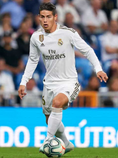 ¡Atención! James, titular con Real Madrid en el duelo ante Mallorca