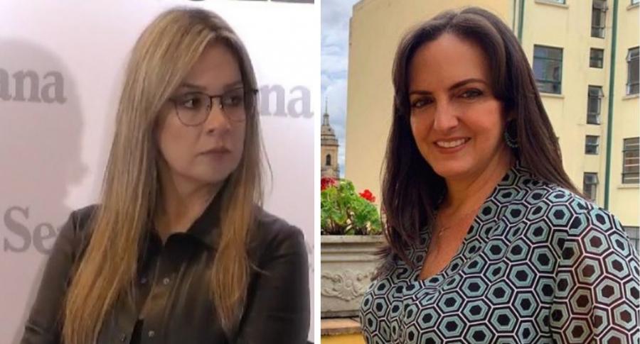 Vicky Dávila y María Fernanda Cabal