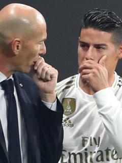 James habla con Zidane y aspira a ser titular con el Real ante Galatasaray y Barcelona