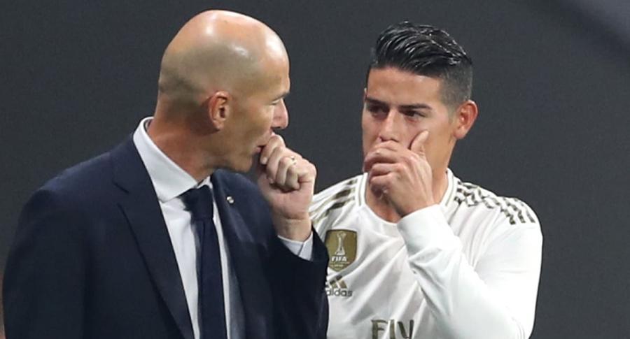 Zinedine Zidane y James Rodríguez