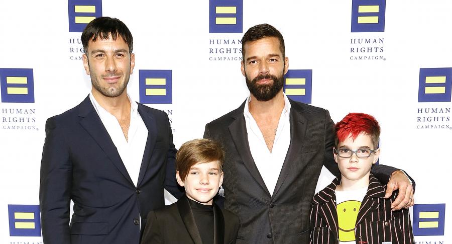 Jwan Yosef, Ricky Martin, Matteo Martin y Valentino Martin.