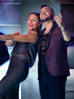 """Jessi Uribe bailó """"bien pegadito"""" con Amparo Grisales, y casi le roba un beso"""