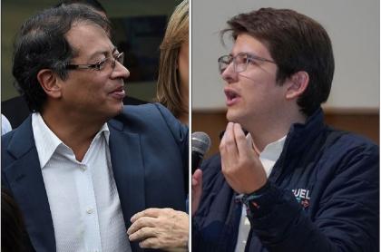 GUstavo Petro y Miguel Uribe Turbay