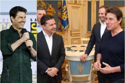 Tom Cruise y Vladímir Zelenski