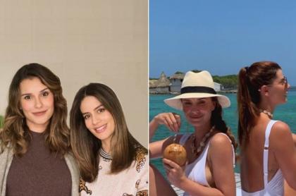 La presentadora María Clara Rodríguez con la actriz Manuela González y su colega Carolina Cruz.