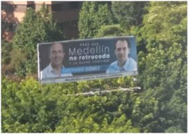 Valla candidato Medellín