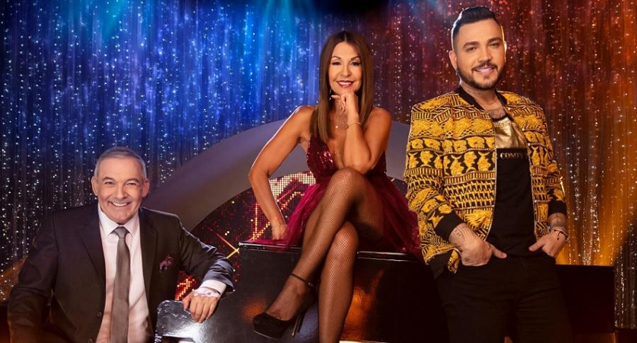 César Escola, Amparo Grisales y Jessi Uribe.