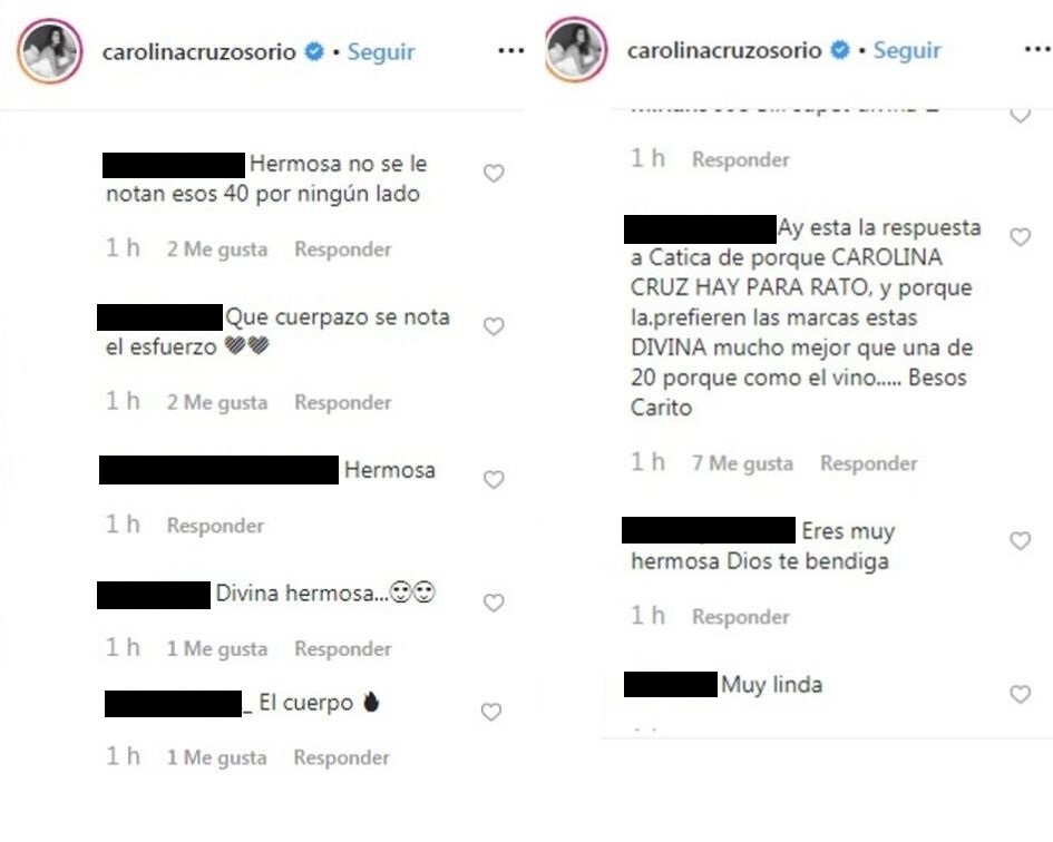 Comentarios post Carolina Cruz