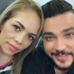 Jessi Uribe, cantante, con su exesposa Sandra Barrios.