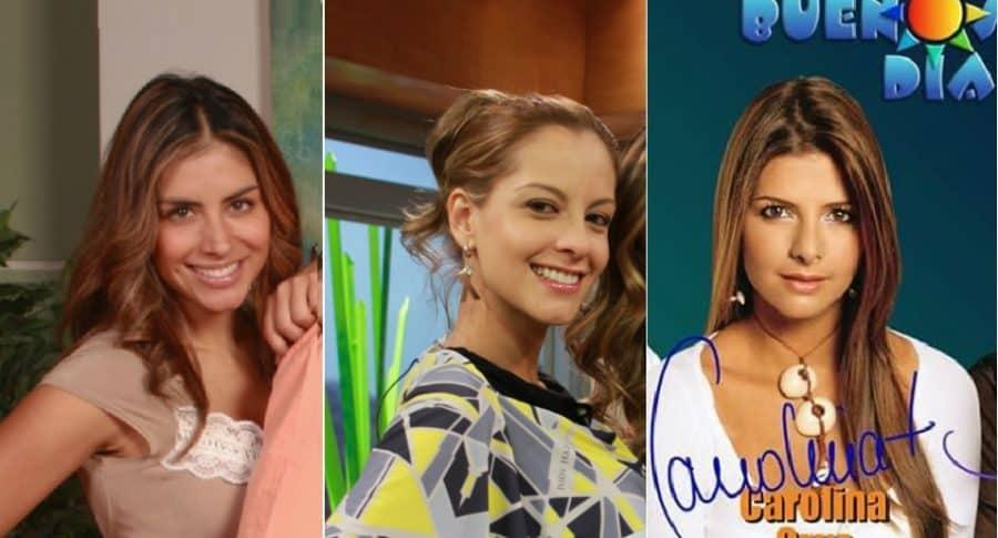 Jessi Cediel, Laura Acuña y Carolina Cruz, presentadoras.
