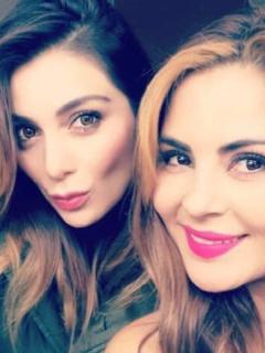 Marilyn Patiño y Estefanía Gómez, actrices.