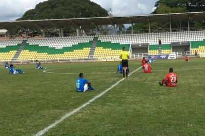 Protesta jugadores colombianos