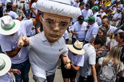 Marchas a favor de Álvaro Uribe