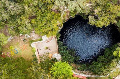 Cenote X-cajum, en México