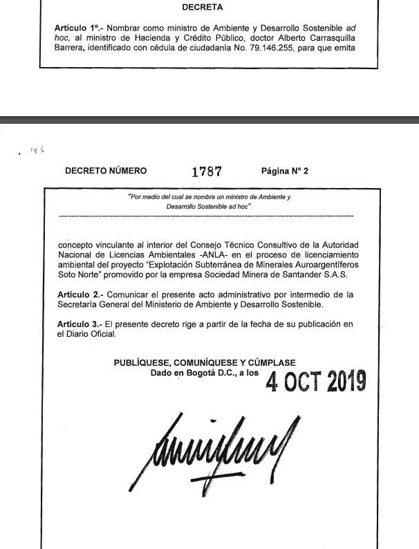 Decreto 1787 de 2019