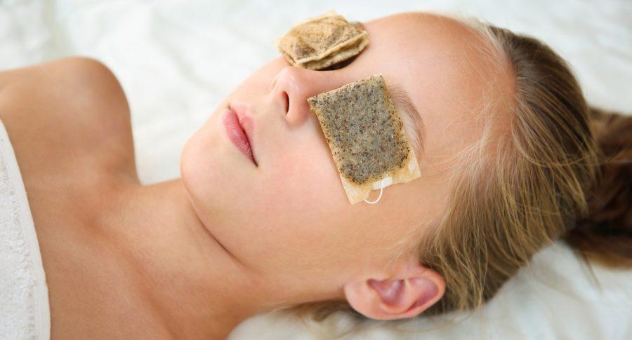 Bolsas de té para la piel